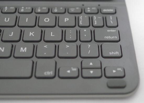 LOGICOOL ウルトラスリム キーボード フォリオ for iPad mini TM725 キーボード右側