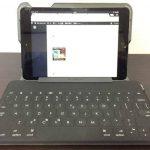 iPad mini、キーボードはKey-To-Go、ケースはTM525BKの快適仕様