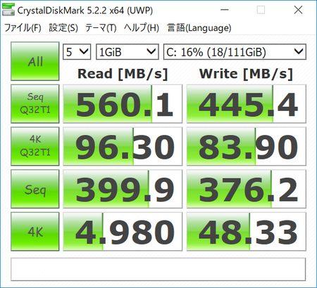 EZBook 3 Pro SSD M.2 (Transcend TS120GMTS420) CrystalDiskMark
