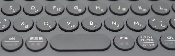 ロジクール K380、円形キーを拡大