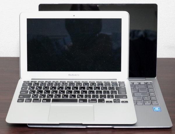 MacBook Air vs Chuwi Lapbook Air 正面より