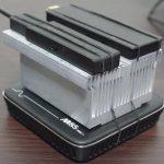 熱すぎるStick PC DG-STK3にCPU用の巨大ヒートシンクに取付。さすがに冷却効果あり