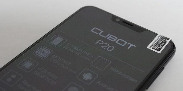 CUBOT P20 付属の前面保護フィルム