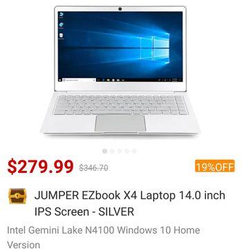 Gearbest Jumper EZBook X4 IPS (GearBest)