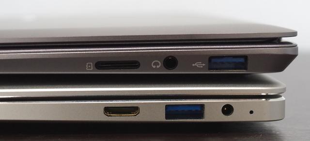 Chuwi LapBook SE 右サイドのポート類