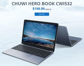 Gearbest Chuwi HeroBook (GearBestサイト)