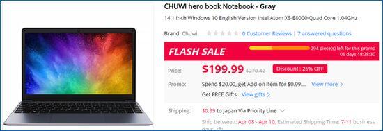 Gearbest Chuwi HeroBook